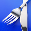 Stock Photo: Fork and knife