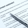Employment agreement - Stock Photo