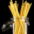 Pasta in jar - Stock Photo