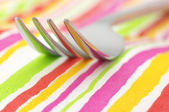 Fork close-up — Stock Photo