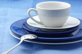 Vaisselle bleue et blanche — Photo