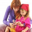 Stock Photo: Playing mother and daughter