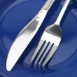 Silverware on plate - Lizenzfreies Foto