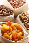 Nuts and dried apricots — Foto de Stock