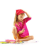 Drawing child — Stock Photo