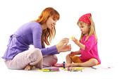 Playing mother and daughter — Stock Photo