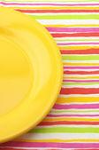 Gele plaat — Stockfoto