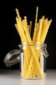 Pasta in jar — Stock Photo