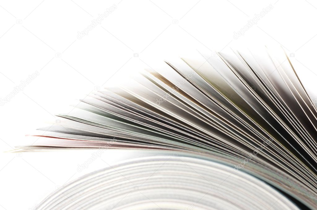 Close-up of rolled magazine isolated on white background. — Stockfoto #2968620