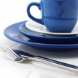 Blue and white dishware — Stock Photo