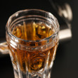 Cognac and flask - Stock Photo