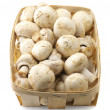 Mushrooms in basket - Stock Photo