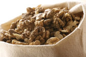 Walnuts in bag — Stock Photo
