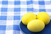 Yellow Easter eggs — Stock Photo
