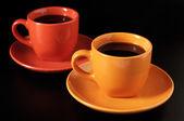 Multicoloras tazas de café — Foto de Stock