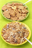 Breakfast cereal in plates — Stock Photo