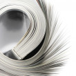Rolled magazine — Stockfoto