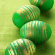 Royalty-Free Stock Photo: Green Easter eggs