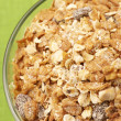 Muesli in bowl close-up — Stock Photo