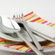 Silverware on plate — Stock Photo #3093140