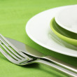 Plates, fork and knife — Stock Photo #3093141