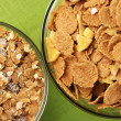 Breakfast cereal in bowls — Stock Photo