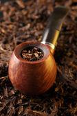 La pipa y el tabaco — Foto de Stock