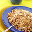 Breakfast cereal in plate - Stock Photo