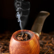 Pipe and tobacco - Stok fotoğraf