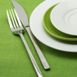 Plates, fork and knife — Stock Photo #3221097