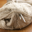 Linen yarn close-up - Stock Photo