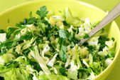 Green salad close-up — Stock Photo