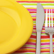 Royalty-Free Stock Photo: Plate, fork and knife
