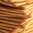 Stack of crackers close-up - Stock Photo