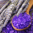 Bath salt and lavander — Stock Photo #3375940