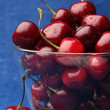 Cherries in bowl — Stock Photo