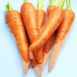 Carrots in water — Stock Photo