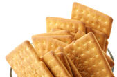 Crackers in bowl — Stock Photo