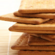 Stack of crackers close-up — Stock Photo