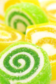 Green and yellow candy — Stock Photo