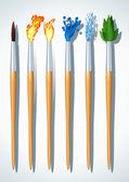 Brushes painter — Stock Vector