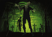 Zombie — Vettoriale Stock