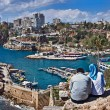 Looking At Marina In Antalya Marina — Stock Photo