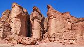 Timna park, pustyni negew — Zdjęcie stockowe