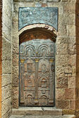 Tür in der altstadt von jerusalem — Stockfoto