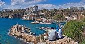 Looking At Marina In Antalya Marina — Stock Photo