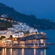 Amalfi at night, Italy - Stock Photo
