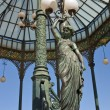 Caryatid streetlight, Naples — Stock Photo