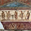 Lararium fresco, Pompeii - Stock Photo