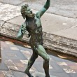 Faun sculpture, Pompeii — Stock Photo